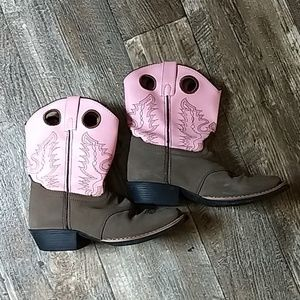 Pink and Brown Short Boots